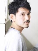 爽やか系ゆるパーマヘア(髪型メンズ)