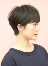 手入れ簡単☆暗めの大人かわいいショート(髪型ショートヘア)