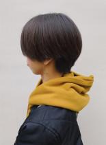 襟足スッキリベージュハンサムショート(髪型ショートヘア)