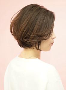 米倉涼子さん風☆前髪長めショートボブ