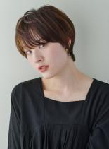丸みハンサムショート(髪型ショートヘア)