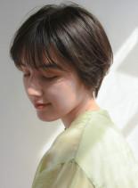 丸みショートボブ(髪型ショートヘア)