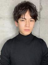 センターパートでモテ髪男子(髪型メンズ)