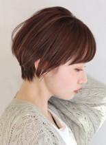 大人可愛いショートボブスタイル(髪型ショートヘア)
