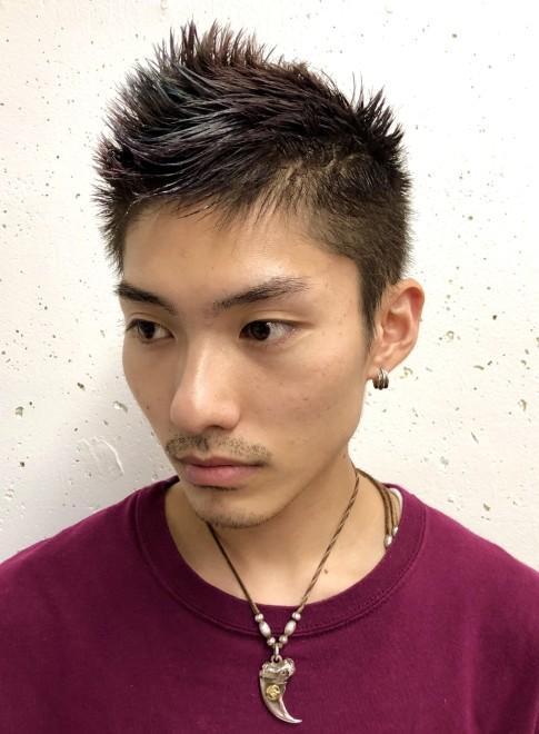 メンズ髪型モヒカン刈り上げショート (ビューティーナビ)