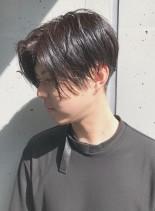 大人めツーブロックセンターパート(髪型メンズ)