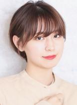 小顔効果の丸みショート☆(髪型ショートヘア)