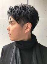大人のツーブロックショート(髪型メンズ)