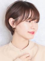 小顔効果の丸みショート☆