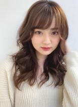 大人かわいいゆるふわ小顔セミディ☆(髪型セミロング)