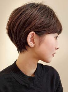 耳に掛けられるスッキリ丸みショート☆(ビューティーナビ)