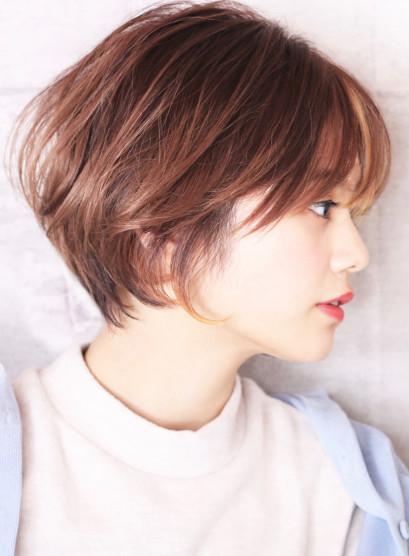 耳に掛けられる☆ひし形ショートボブ(髪型ショートヘア)