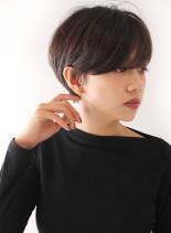 アッシュ☆オトナモードなフレンチショート(髪型ショートヘア)