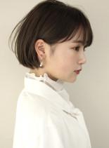内巻きシンプルなミニボブ(髪型ボブ)