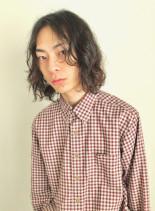 ミディアムパーマスタイル(髪型メンズ)