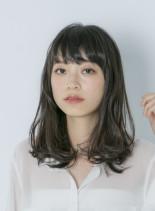 AVEDAカラーセミディ(髪型ミディアム)