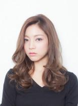 AVEDAカラーセミロング(髪型セミロング)