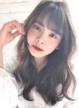 小顔デジタルパーマヘア☆イルミナカラー(髪型ロング)