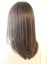 30代40代50代大人の艶髪セミロング(髪型セミロング)