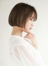 小顔 大人ショートボブ(髪型ショートヘア)
