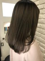 大人女子おすすめミディアムボブ(髪型ミディアム)