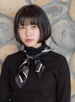 ミニボブ☆ダークアッシュ(髪型ボブ)