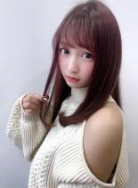 20代30代 艶×ナチュラルワンカール(髪型セミロング)