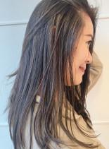 大人世代に!白髪が気にならない魔法カラー(髪型ロング)