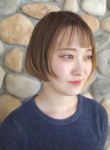 ハイライト*人気オン眉ミニボブ*(髪型ショートヘア)