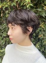 春の無造作マッシュショート(髪型ショートヘア)
