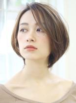 透明感UP大人女性のひし形ショートボブ(髪型ボブ)