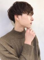 ツーブロックナチュラルマッシュショート(髪型メンズ)