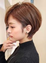 小顔効果◎耳に掛けられるくびれショート(髪型ショートヘア)