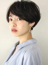 小顔コンパクトマッシュショート(髪型ショートヘア)