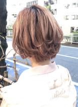 ボリュームパーマひし形ショートスタイル(髪型ショートヘア)