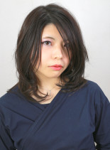 巻きやすいひし形レイヤースタイル(髪型ミディアム)