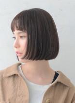 ラインのキレイなシンプルボブ(髪型ボブ)