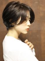 レディな小顔ナチュラルショートボブ(髪型ショートヘア)
