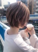 30代40代美フォルムボリュームショート(髪型ショートヘア)