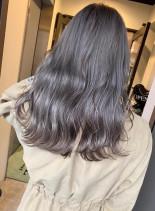 スモーキーグレー♪トリプルカラー(髪型ロング)