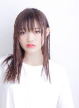 艶髪☆ サラツヤ潤いストレート(髪型セミロング)