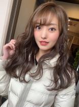 ココアブラウン(髪型ロング)