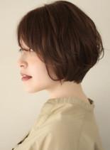 大人の小顔ショートボブ(髪型ショートヘア)