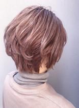 ボリュームUPパーマショートスタイル(髪型ショートヘア)