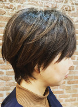 ショートマッシュ(髪型ショートヘア)