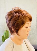 40.50代大人きれいショートレイヤー(髪型ショートヘア)