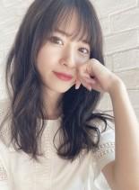 デジタルパーマ&イルミナカラー☆セミディ(髪型セミロング)