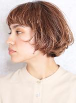 安田成美さん風カット☆大人ミディアムボブ