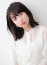 シースルーニュアンスくびれボブディ(髪型ミディアム)