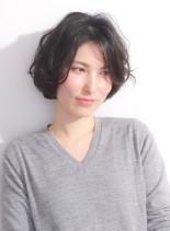 大人の抜け感ショートボブ(髪型ショートヘア)
